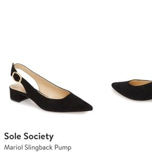 Sling back pumps-suede